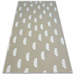 Anti-slip Carpet wall-to-wall for kids CLOUDS beige