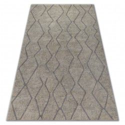 Carpet SOFT 8050 ZIGZAG BOHO cream / light brown