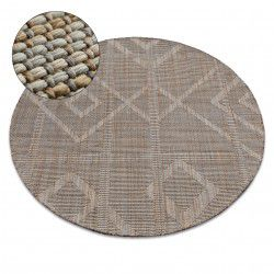 Teppich NATURE Kreis G2929 beige SIZAL BOHO