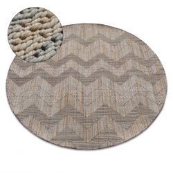 Carpet NATURE circle SL100 beige SIZAL BOHO