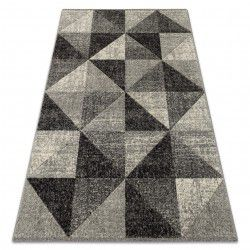 Carpet FEEL 5672/16811 TRIANGLES grey / anthracite / cream