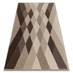 Carpet FEEL 5674/15055 DIAMONDS beige / brown / cream