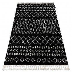 Teppich BERBER ETHNIC G3802 schwarz / weiß Franse berber marokkanisch shaggy zottig