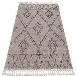 Koberec BERBER FEZ G0535 béžový / hnědý Třepení berber maročtí shaggy střapatý