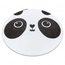 Kinderteppich PETIT PANDA Kreis weiß