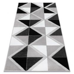 Koberec BCF ANNA Trigonal 2964 trojúhelníky šedá
