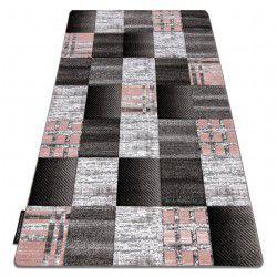 Teppich ALTER Siena Quadrate Gitter grau
