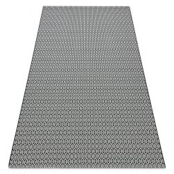 Carpet SISAL FLAT 48603690 Honeycomb white black