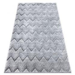 Teppich Structural SIERRA G5010 flach gewebt grau - Geometrisch, ZigZag