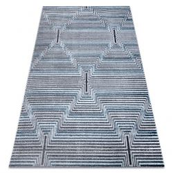 Teppich Structural SIERRA G5018 flach gewebt blau - Streifen, Diamanten