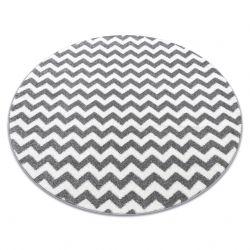 Teppich SKETCH ring - F561 grau/weiß - Zickzack