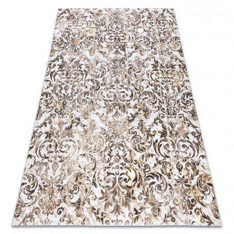 Carpet ACRYLIC VALS 0A027A H02 65 Ornament Flowers dark beige / beige