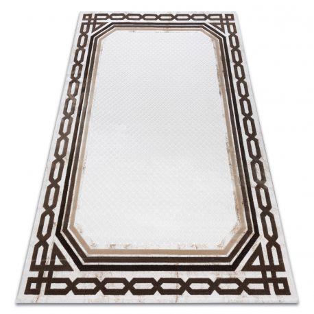 Teppich ACRYL VALS 0A028A C56 46 Rahmen Geometrisch elfenbein / beige