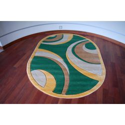 Carpet oval RUBIKON 8017 green