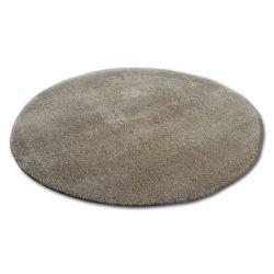 Teppich Kreis SHAGGY MICRO dunkelbeige