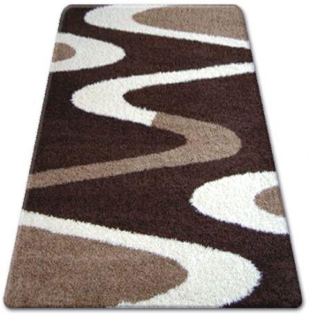 Teppich SHAGGY ZENA 3310 dunkel braun / elfenbein