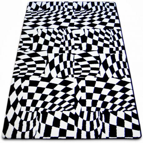 Teppich SKETCH - F756 weiß/schwarz - kariert