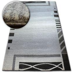 Kulatý koberec SHADOW 8597 stříbro