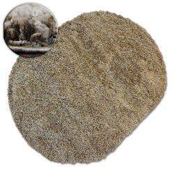 Tapis ovale SHAGGY GALAXY 9000 marron clair