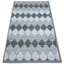 Alfombra acrílica YAZZ 3766 Enrejado Trébol marroquí gris