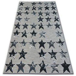 Килим ЛІСАБОН 27219/956 зірки чорний