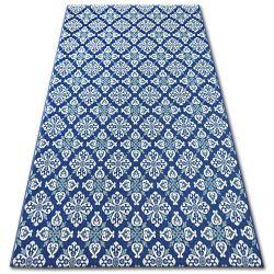 Tapis EN CORDE SIZAL COLOR 19246/699 Fleurs Bleu