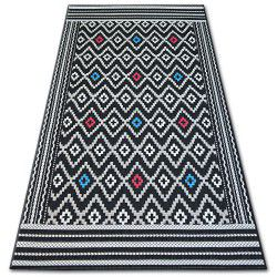 Килим шнуровий SIZAL COLOR 19315/239 діаманти чорний