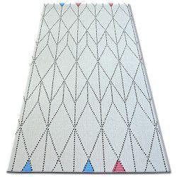 Ковер шнуровой SIZAL COLOR 19312/236 диаманты треугольники белый