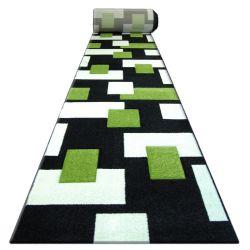 Heat-set Fryz futó szőnyeg PILLY - 7778 fekete zöld