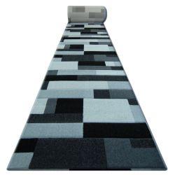 Heat-set Fryz futó szőnyeg PILLY - 8403 fekete ezüst