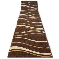 Runner HEAT-SET FRYZ FOCUS - 8732 brown wenge WAVES LINES cacao