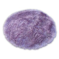 Carpet LOVE SHAGGY circle design 93600 lila