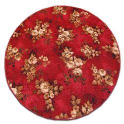 Carpet round WILSTAR red