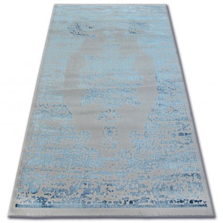 Covor acril Manyas 0917 gri si albastru