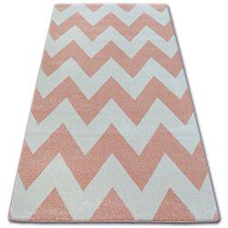 Sketch szőnyeg - FA66 rózsaszín/krém - Cikcakk