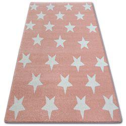 Tapete SKETCH - FA68 cor de rosa/creme - Estrelas Estrelinhas