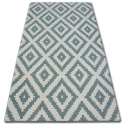 Teppich SKETCH F998 Türkis/Sahne - Quadrate