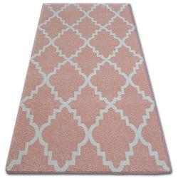 Килим SKETCH – F343 розово/екрю мароканска детелина