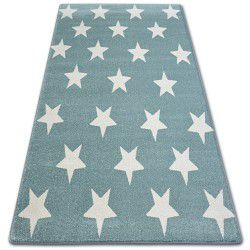 Carpet SKETCH - FA68 turquoise/cream - Stars
