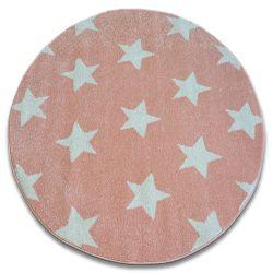 Tappeto SKETCH cerchio - FA68 rosa/crema - Stelline Stelle