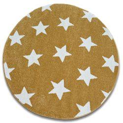 Sketch szőnyeg kör - FA68 arany/krém - Csillagok