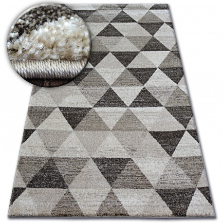 Tapis SHADOW 636 beige clair / crème - Triangles