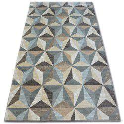 Tapete ARGENT - W6096 Triângulos Bege / Azul