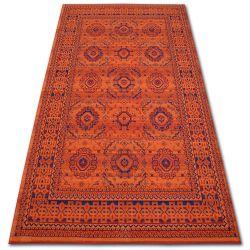 Carpet VERA 3240 Rosette terra / blue WOOL