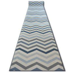 Runner anti-slip SKY blue ZIGZAG