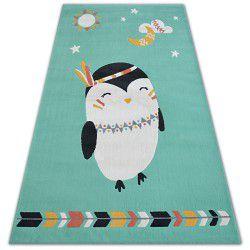 Килим PASTEL 18401/043 - пінгвін зелений