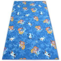 Teppich für Kinder FROZEN blau ELSA