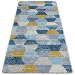 Teppich NORDIC HEXAGON greu/blau G4596