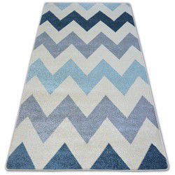 Carpet NORDIC ZIGZAG blue FA66
