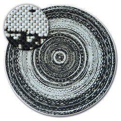 Ковер колесо шнуровой SIZAL FLAT 48756/960 витражи